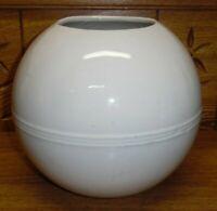 """Vintage TAI Trenton NJ Pottery Round Vase / Rose Bowl - 7 3/4"""""""