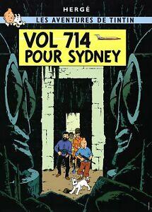HERGE Les Aventures de Tintin: Vol 714 Pour Sydney 27.5 x 19.75 Poster 2014 Yell