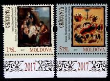 Weihnachten 2018. Christi Geburt, Ikonen. 2W. Rand(6). Moldawien 2017