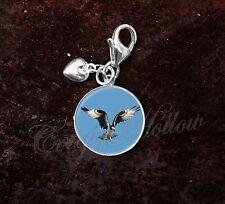 925 Sterling Silver Charm Osprey Brid of Prey fish eagle sea hawk river hawk fis