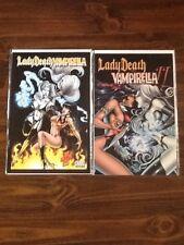 Lady Death vs Vampirella #1 & Preview Book Ii Vf/Nm.