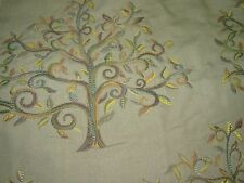 "~20 YDS~TREE OF LIFE~""ETHAN TEAL""~EMBROIDERED UPHOLSTERY FABRIC FOR LESS~"