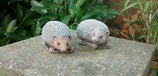 Pair of Cute Hedgehogs  - Garden Ornament  - Hand Cast