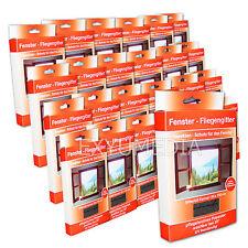 24x Fliegengitter 130x150 UV beständig Insektennetz Fenster Schwarz Mücken Netz