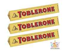 3 x TOBLERONE Swiss Milk Chocolate Bar with Honey and Almond Nougat 100g 3.5oz