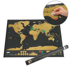 Deluxe Customize travel Edition Scratch Off World Map póster Journal log Map
