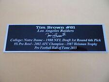 Tim Brown Autograph Nameplate Los Angeles Raiders Autograph Jersey Helmet Photo