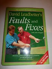 David Leadbetter's Faults and Fixes 1st Hardcover w/ Dust Jacket bB92