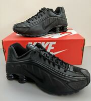 Nike Shox R4 Running Shoes Triple Black 104265-044 Men's Size 8.5