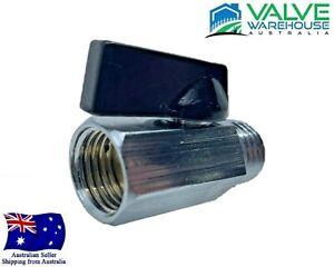"Brass Mini Ball Valve - Male and Female BSP - 8mm (1/4"") - 15mm (1/2"")"