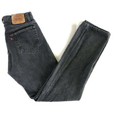 Vintage Mens Levis 501 Size 34 x 34 Made In USA Button Fly Black fade Denim