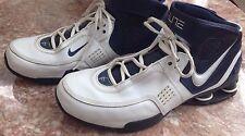 Nike Mens Shox Elite TB Basketball White/Blue Shoes Size 12.5   314184-114