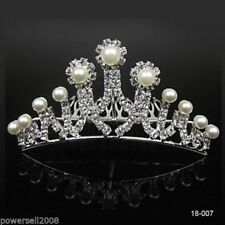 Unbranded Pearl Crown Hair Accessories for Women