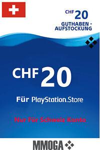 20 CHF PSN Playstation Network Guthaben Code PS5 PS4/3 PS Vita - Für Schweiz CH