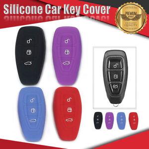 Silicone Car Key Cover Fits FORD Mondeo Fiesta Titanium Focus Kuga Ecosport..