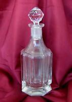 19C. ANTIQUE ART DECO CRYSTAL GLASS BOTTLE w/STOPPER