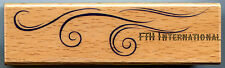 """Air Wave Border ~ All Night Media Wood Mount Rubber Stamp #331G, 3.75"""" x 1"""""""