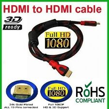 Set Of 3 HDMI v1.4 Male to Male Cable 1.5 m LCD Plasma DVD PS3 Full HD (N-1004)