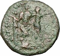 ELAGABALUS w Trophy & Nike  Nicopolis ad Istrum Ancient Roman Coin  i26453