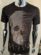 Philipp Plein Ghost-S Crystal Large Black T Shirt Genuine BNWT