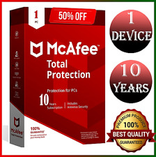 McAfee total protection 2020 1 device ✅ 🔟 years ✅ fast delivery Genuine License