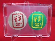 "2 Vintage 1994 ProCaps Official ""HANG TEN"" Licensed aluminum slammers pog & case"