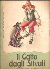 GATTO DAGLI STIVALI PICCOLI MILANO ILLUSTRAZIONI MARIAPIA 1952