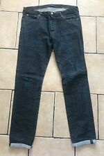 "Paul Smith Jeans, 36"" Long, Dark Blue Denim with Red Selvedge"