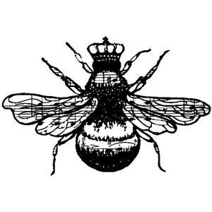"""Donna Salazar """"Queen Bee"""" 2"""" x 1 1/4"""" Rubber Stamp"""