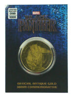 Black Panther Antique Gold Coin 38mm Commemorative Marvel Limited Edition