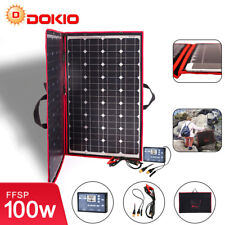 100W Flexible Portable Solar Panel + 12V Controller For Camping/Car Battery