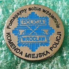 POLISH POLICE DISTRICT WROCŁAW - POLAND  -  PIN BADGE