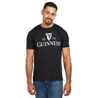 Guinness - Mono Logo - Official - Mens - T-shirt - Black - Sizes S-XXL