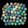 55 Pcs Natural Opal 5mm/4mm Oval Cabochon Flashy Finest Quality Gemstones Lot