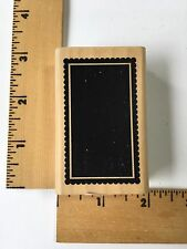 A Muse Rubber Stamps - Scalloped Rectangle 3-5050E - NEW