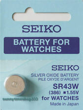 SR43W/386, Seiko Watch Battery , Made in Japan, Silver Oxide, 1.55V
