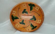 VINTAGE MUNISING STYLE HAND PAINTED WOODEN BOWL