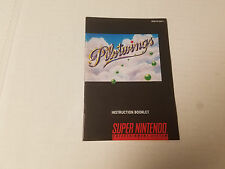 Snes Pilotwings Instruction Manual  Booklet Only Nintendo