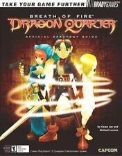 BREATH OF FIRE DRAGON QUARTER BRADYGAMES OFFICIAL STRATEGY GAME GUIDE