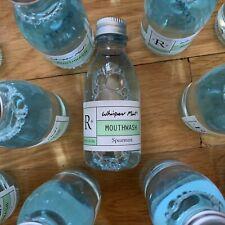 25 Travel Sealed Mint Mouthwash Bottles, Mini Hotel Guest Toiletry Sample Size