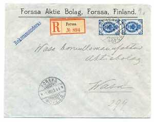 Finland under Imperial Russia Official Aktie Bolag R Cover Forssa - Brando 1908