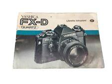 Yashica FXD Libretto istruzioni macchina fotografica
