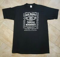 Vintage 80s Jack Daniels Old Tee Shirt Mens L Made USA Single Stitch T Shirt EUC