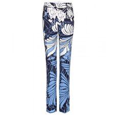 BNWT Miu Miu Navy Blue White Floral Print Trousers Pants RRP£1,070
