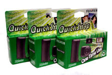 3x Fujifilm Quicksnap Single Use / Disposable Camera - 27 Exposures With Flash