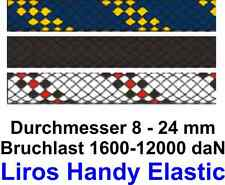 Festmacher Leine Liros Handy Elastic marineblau schwarz 8-24 mm Meterware