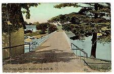 Bath Maine Bridge near slighty New Meadows Inn posted 1913
