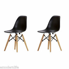 set of 2 . DSW mid century modern dining side chair