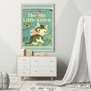"The Shy Little Kitten - 1946 Children's Book POSTER! (up to 24"" x 36"") - Nursery"