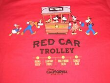 Medium Red Trolley Mickey Mouse Goofy & Gang Tee Shirt NWT Youth